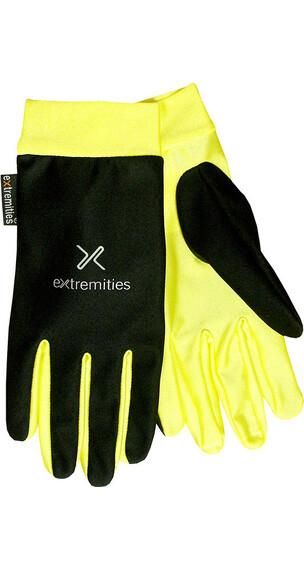 Extremities Windy Glo Glove Black/ Day GloYellow